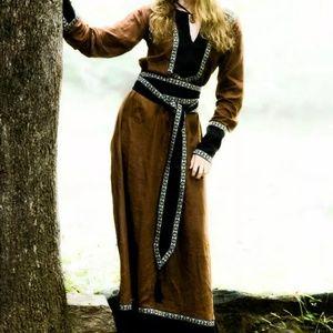 Medieval Fantasy dress with tunic, sash; halloween